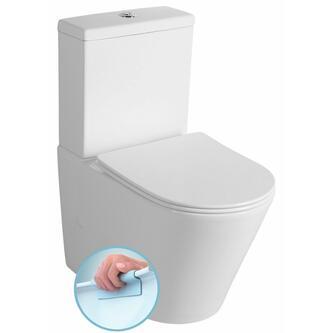 PACO RIMLESS Kombi-WC, Spülk. inkl. Soft Close WC-Sitz, Abgang senkt./waagerecht