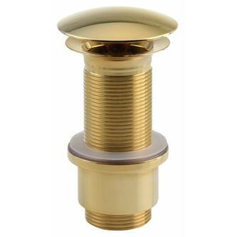 Verschließbare Ablaufgarnitur für Waschtische mit Überlauf,H.65-85mm, Gold
