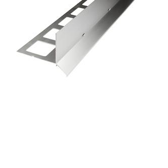 Kiesbettprofil Alu, Oberfläche silber elox., Auflageschenkel 100mm, Länge 300cm,Innenhöhe 23/40/70mm, Außenhöhe 48/65/95mm