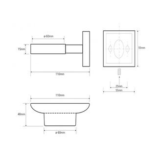 Ersatzseifenbehalter für Asoffi/X-ROUND /X-STEEL/Ergo, Milchglas