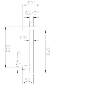 BRACCI Duscharm, 400mm, Messing/Chrom
