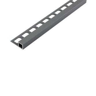 Quadro Alu- Fliesenschiene, grau metallic, 250 cm lang, 10 mm hoch