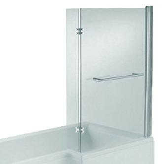 SYNA Duschabtrennung mit Handtuchhalter, H. 140 cm, 6mm Glas