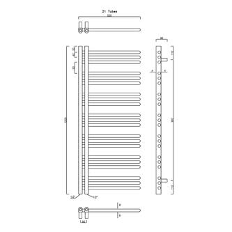 DORLION Heizkörper 500x1200 mm, weiss