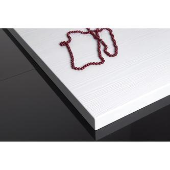 AMAR 120x80x3,5cm weiß mit Holzdekor