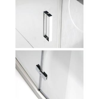 VITRA LINE Duschabtrennung 3-teilig, 1200x800mm, links, Klarglas