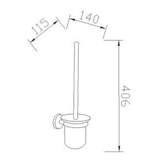 SAMBA WC-Bürste zum Einhängen, Milchglas