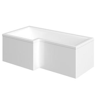 raumspar badewanne mit duschzone 167 5x85 70 cm links. Black Bedroom Furniture Sets. Home Design Ideas