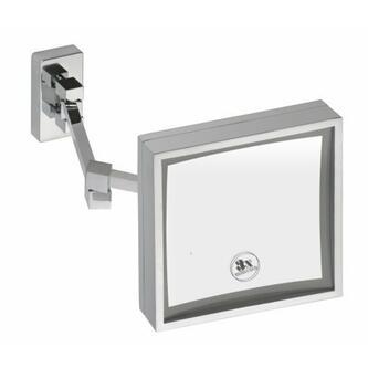 Kosmetikspiegel zum Einhängen, mit LED Beleuchtung, 205x205x415mm
