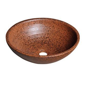 ATTILA Keramik-Waschtisch Durchmesser 46cm, Terrakotta braun