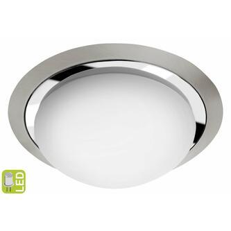 METUJE LED Deckenleuchte 12W, 230V, Durchmesser 28,5cm, Chrom/Boden Chrom