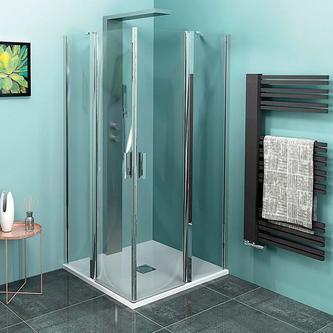 ZOOM LINE Duschabtrennung Quadrat 900x900mm, Klarglas