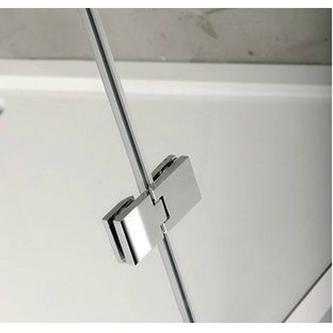 VITRA LINE Duschabtrennung Rechteck,Ecke abgerundet 1000x800mm,links, Klarglas