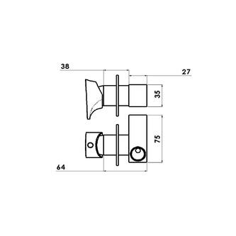 Axamite Unterputz-Armatur mit WC-Handbrause