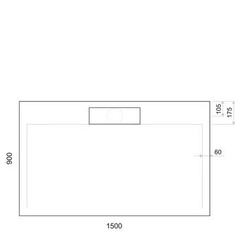 IRENA Duschwanne 150x90x3,5cm weiß