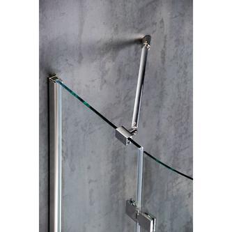 VITRA LINE Duschabtrennung 3-teilig 1000x800mm, links, Klarglas