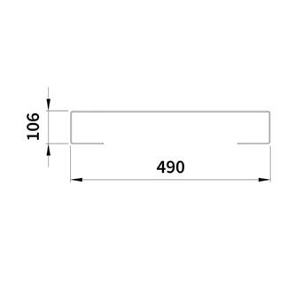 ELION Handtuchhalter für Badheizkörper 456 mm, doppelseitig, gebürsteter Edelstahl