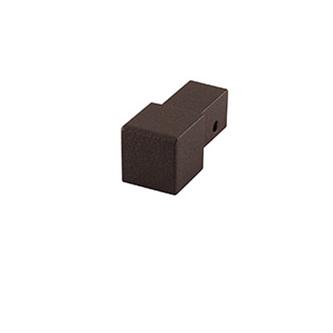 Quadro Aluminium Eckstück, passend zur Quadro Aluminium Schiene, strukturbeschichtet, umbra, 10 und 11 mm hoch