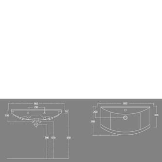 ZERO 86 Waschtisch 86x50cm