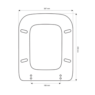WALDORF WC-Sitz, Soft Close, weiß/chrom