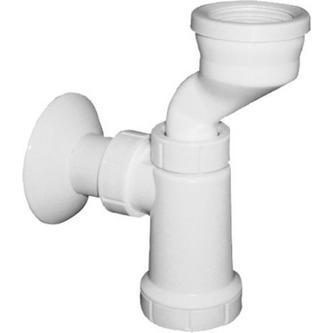 Urinal-Siphon, Manschette, Abfluss 40mm, Kunstsfoff