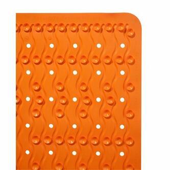 PLAYA Badvorlage 54x54cm Anti-Rutsch, Kautschuk, orange