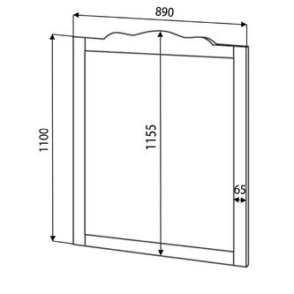 RETRO Spiegel 94x115cm, Buche