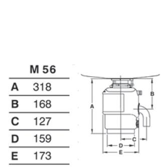 Abfallzerkleinerer, 230V, 380W, pneu. steuerung
