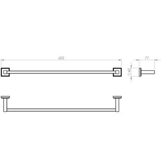 COLORADO Handtuchhalter 600x80mm, Chrom