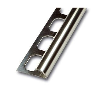 Viertelkreisprofil aus Edelstahl , glänzend, 250cm lang, 10 mm