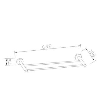 SAMBA Handtuchhalter 2-Fach 600mm, Chrom