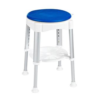Badstuhl, drehbar, höhenverstellbar, weiß/blau