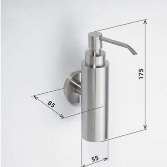 X-STEEL Seifenspender 150ml, gebürsteter Edelstahl