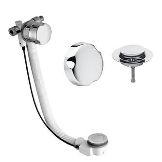 Badewannenablaufgarnitur mit Einlauf,Länge 700mm, Chrom