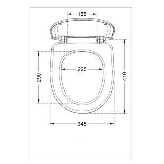 RIGA WC-Sitz, Ersatzscharniere ABS, obere Befestigung