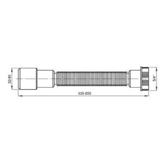 FLEXI Anschlussschlauch 1'1/4, 32/40, Kunststoffmutter