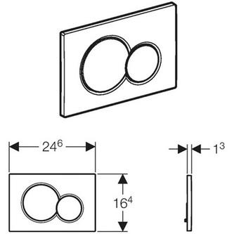 GEBERIT SIGMA01 Dual Betätigungsplatte, weiß