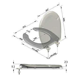 URAN PROJECT WC-Sitz für Behinderte, Duroplast, weiß