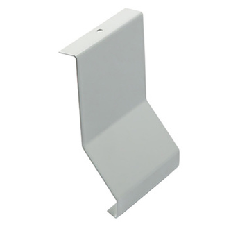 Verbinder, Aluminium, passend zum Balkonabdeckprofil Aluminium, grau, 79 mm hoch
