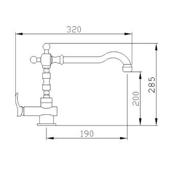 JAFAR Küchenarmatur, bronze