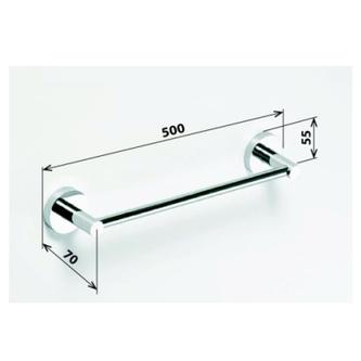 X-ROUND  E Handtuchhalter 500mm, Chrom