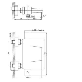 LATUS Thermostat-Wannenarmatur, Kaskade, Chrom