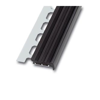Treppenstufenprofil  Alu, 100cm, Höhe 9mm,grau