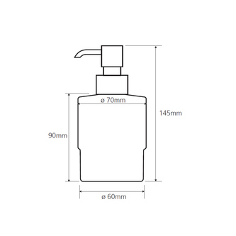 X-SQUARE Seifenspender MINI 200 ml, Chrom