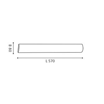 ZOLA Wandlampe E14 3x40W, 230V, 57cm