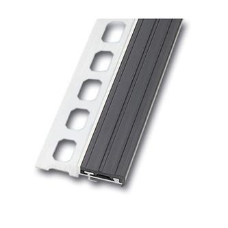 Treppenstufenprofil  Alu, 250cm, Höhe 9mm,grau