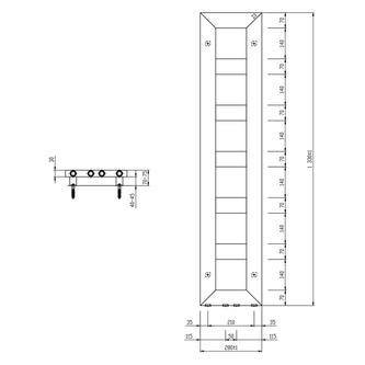 BLOCK Badheizkörper 280x1330 mm, weiss matt