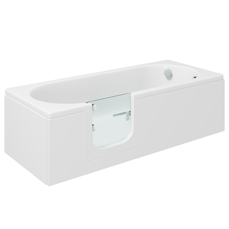 CASCADE Badewanne mit Tür/Seniorenbadewanne 169,5x70cm  Ausführung Links