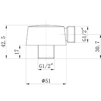 Duschanschluss, Durchmesser 50mm, Roségold