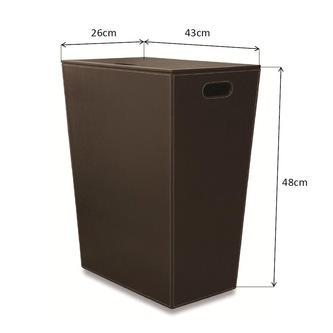 ECO PELLE Wäschekorb 43x48x26cm, braun